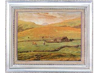 画材 絵画 名画 P10号 ミレー 国内送料無料 ヴォージュ山中の牧場風景 超特価SALE開催