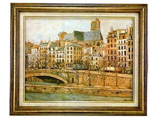 【画材 絵画 名画】  パリのサン・ジュルヴエ教会(ユトリロ) P10号