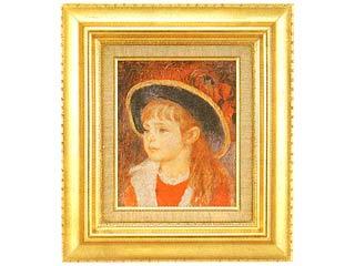 画材 お得セット 日本最大級の品揃え 絵画 名画 F3号 青い帽子の少女 ルノアール
