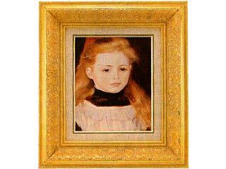白いエプロンの少女(ルノアール) F3号