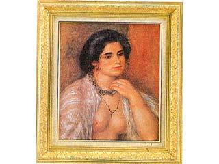 画材 絵画 名画 新品 ルノアール 蔵 F10号 胸をはだけたガブリエル
