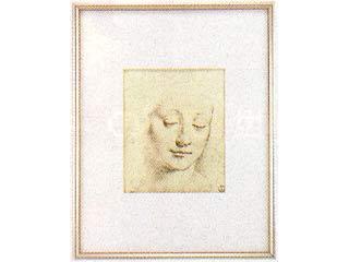 画材 爆売り 絵画 海外並行輸入正規品 名画 若い女の頭部 半切 ダ レオナルド ヴィンチ