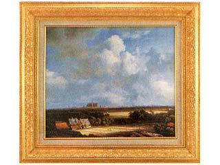 売れ筋 画材 絵画 送料無料カード決済可能 名画 ハーレムの遠望 ロイスダール F10号
