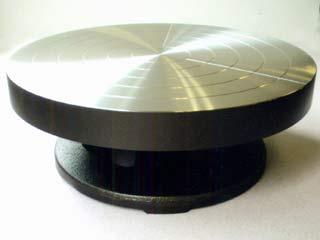 陶芸/ステンレス貼 手ろくろ 径250mm×高95mm