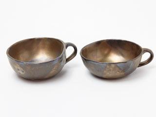 陶芸/石こう押し型スープカップ