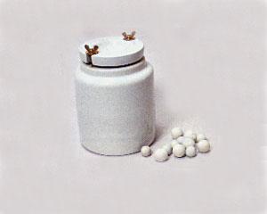 陶芸/磁器製ポットミル・磁器玉付 径240mm