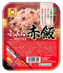 即日出荷 厳選したもち米と小豆の煮汁で着色した赤飯 付与 マルちゃんふっくらお赤飯 160g