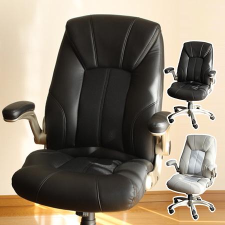 ソフトPUエグゼクティブチェア (椅子 オフィスチェア ロッキングチェア アームレスト)