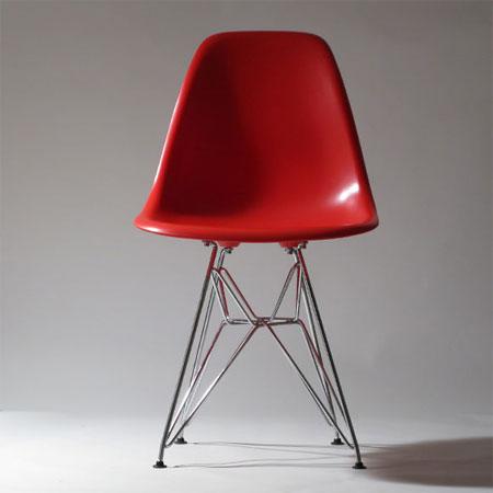 イームズデザイン DSRチェア  (Charles and Ray Eames Dining Side-chair Rod base ミッドセンチュリー シェルチェアロッドベース デスクチェア サイドチェア)