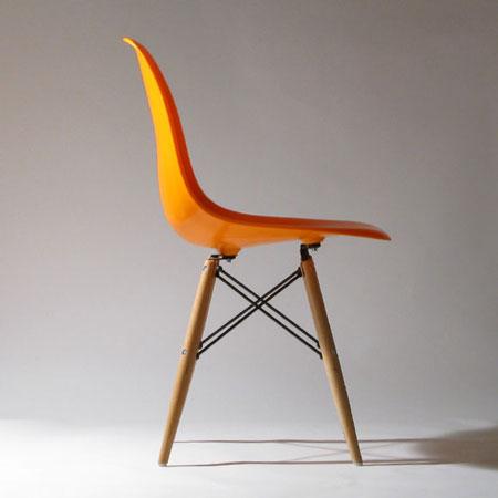 イームズデザイン DSWチェア  (デスクチェア ミッドセンチュリー シェルチェアウッドベース Charles and Ray Eames Dining Side-chair Wood base サイドチェア)