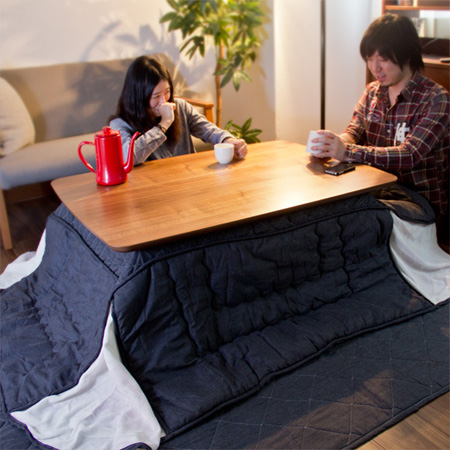 モダンなこたつ ケニー 長方形 (KENNY こたつテーブル センターテーブル ローテーブル 木製テーブル 105×75cm)