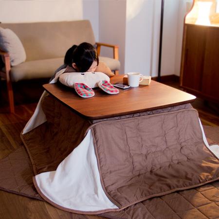 モダンなこたつ ケニー 正方形 (KENNY こたつテーブル センターテーブル ローテーブル 木製テーブル 75×75cm)