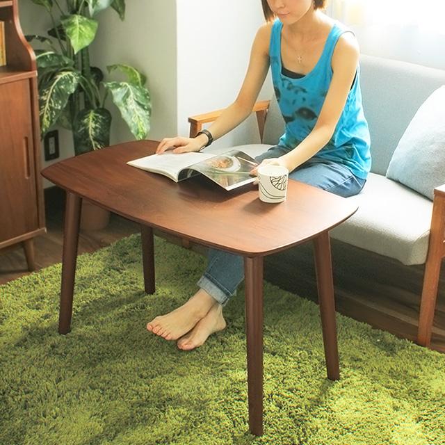 カフェテーブル Pace (テーブル カフェ センターテーブル コーヒーテーブル リビングテーブル カフェテーブル 木製テーブル ソファ 北欧 シンプル おしゃれ ウォールナット)
