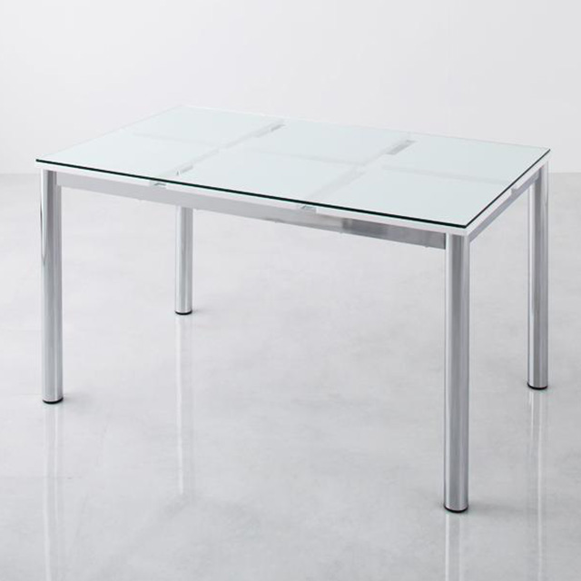 De modera (ディ・モデラ) テーブル150cm (ガラステーブル ダイニングテーブル 幅150cm 4人用 シンプル)