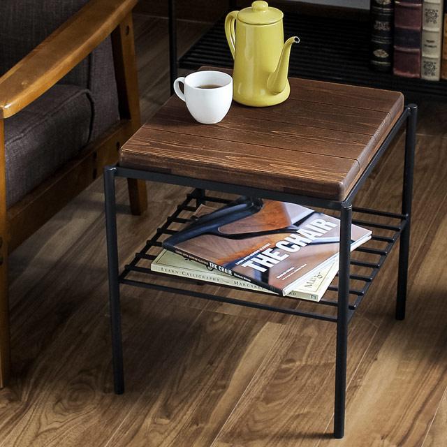 サイドテーブル 北欧 おしゃれ ナイトテーブル ベッドサイドテーブル 木製 KeLT サイドテーブル