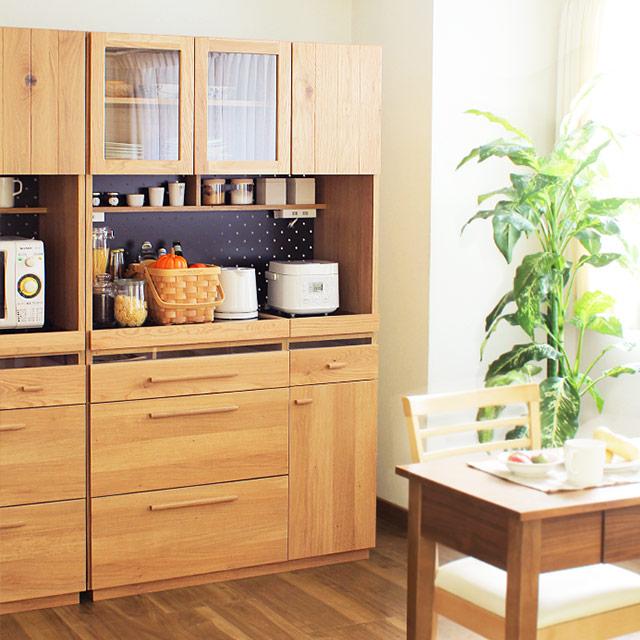 完成品 日本製 OCTA キッチンボード 105cm(キッチンキャビネット 食器棚 幅105cm キャビネット 木製 オクタ)