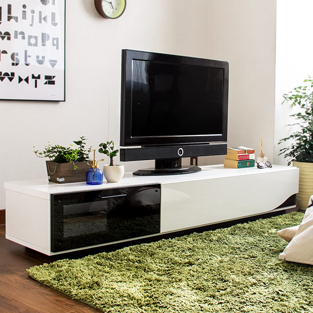 完成品 日本製 クアトロ テレビボード ローボード 180cm (テレビボード TVボード テレビ台 木製テレビ台)