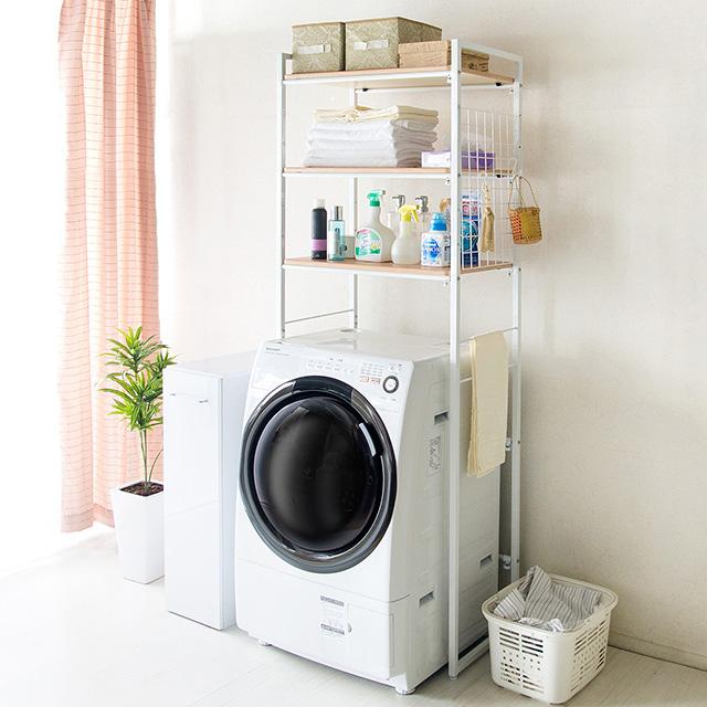 【10月上~中旬予約販売】ランドリーラック おしゃれ ランドリー収納 3段 洗濯機収納 収納棚 北欧 送料無料 シンプル Rizo