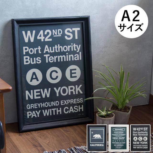 アートポスター AW A2サイズ(アートフレーム ポスター ポスターフレーム アートパネル 額縁 アンティーク 西海岸 インテリア小物 置物 長方形 ウッドフレーム 北欧 壁掛け 雑貨 フレーム インテリアグッズ 壁掛けポスター)