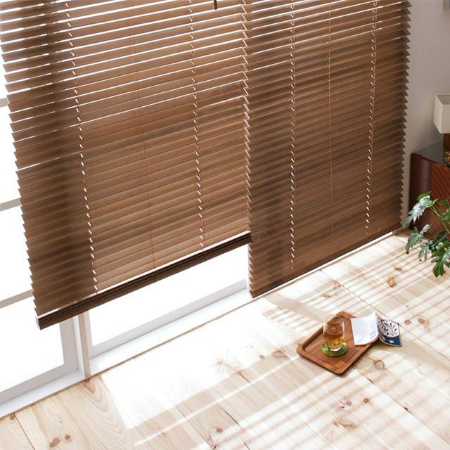 木製ブラインド W88×H138 MOKUBE (ブラインド カーテン 遮光 木製)【送料無料】