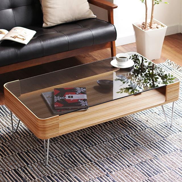 センターテーブル おしゃれ 曲げ木 ガラス テーブル Pirie 100 収納 北欧 ローテーブル リビングテーブル コーヒーテーブル