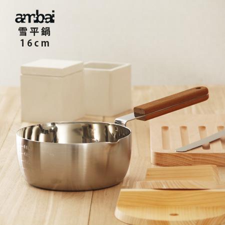 ambai/雪平16cm桜板鍋敷き付