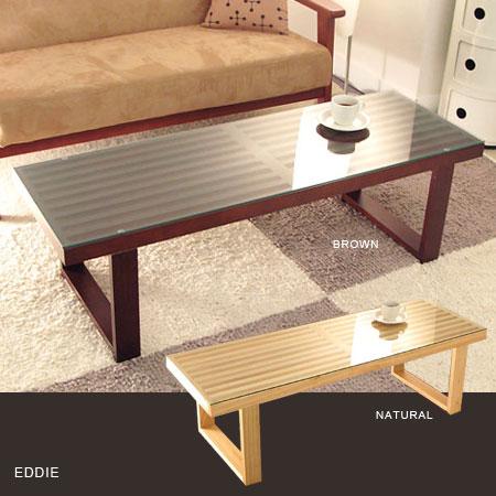 テーブル センターテーブル リビングテーブル ローテーブル ガラステーブル エディガラステーブル