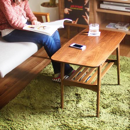 トムテ コーヒーテーブル (tomte リビングテーブル ウォールナット 木製テーブル ミッドセンチュリー)