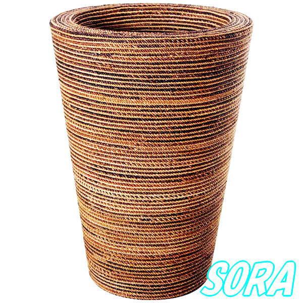 【正規通販】 タンブラー型プランター(縄編) 48*97cm:SORA-ガーデニング・農業