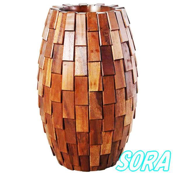 鼓型プランター小(木重) 30*65cm