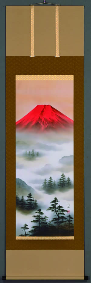 赤富士山水