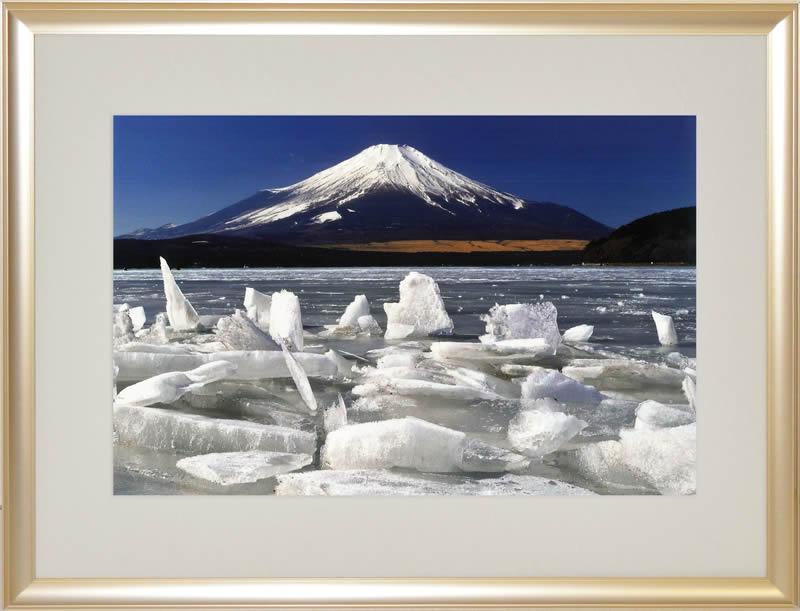 写真家秋元隆良 御神渡り富士