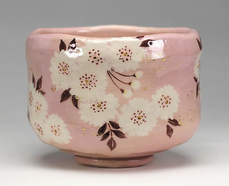 2014年初春作品茶碗「八重桜」