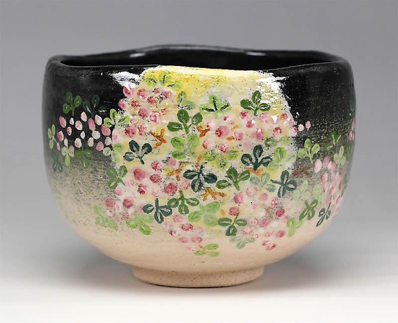 2014年初春作品萩の画 茶碗「秋夜」