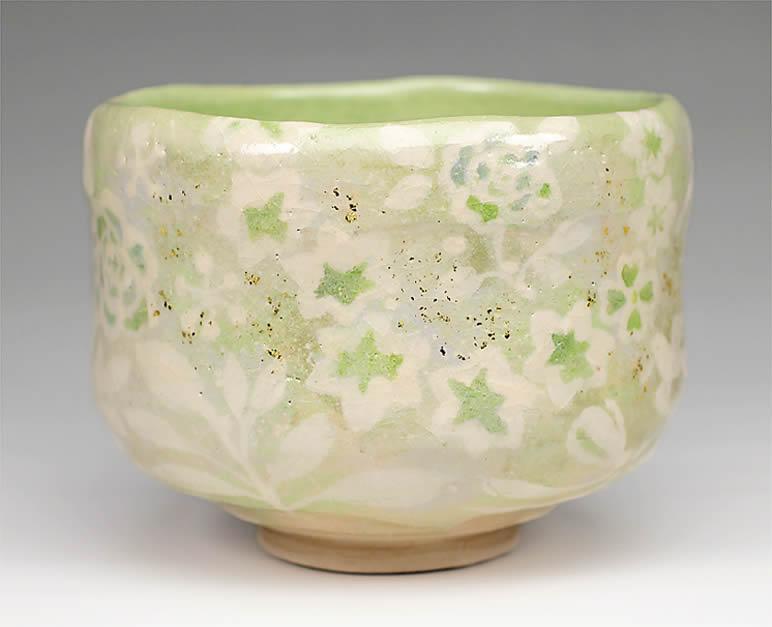 2015年初春作品 楽入印春の絵 茶碗