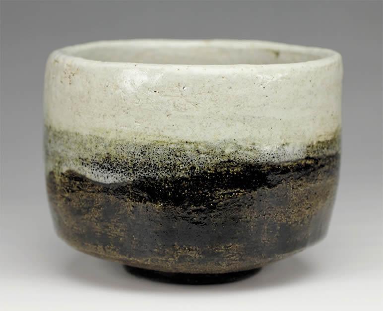 2015年初春作品 楽入印「不二山」写 黒楽茶碗