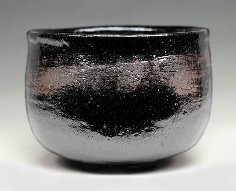 2015年初春作品 楽入印「時雨」写 黒楽茶碗