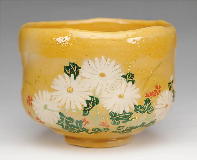 2015年初春作品 楽入印抱一「秋草図」茶碗
