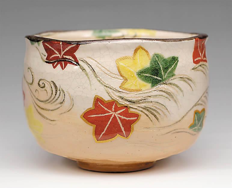 2015年初春作品 楽入印乾山「竜田川」茶碗