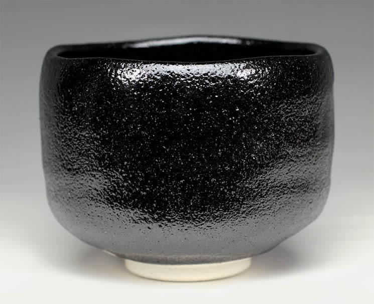 2015年初春作品 楽入窯製黒楽茶碗