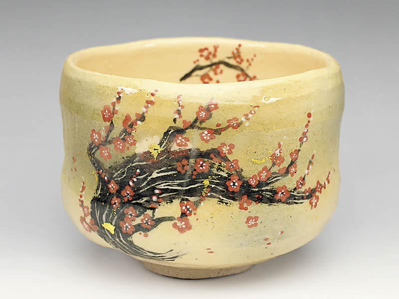 2020年初春作品梅の絵 茶碗