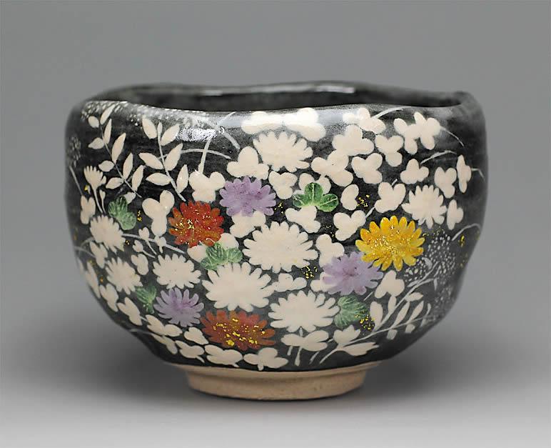 2017年初春作品 「秋ノ野」 茶碗