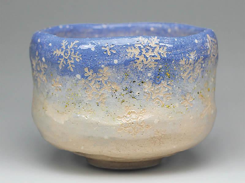 2018年初春作品 雪の結晶図 茶碗