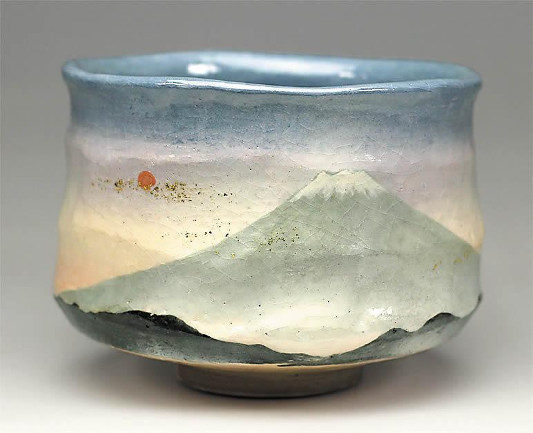 2016年初春作品 「初富士の絵」茶碗