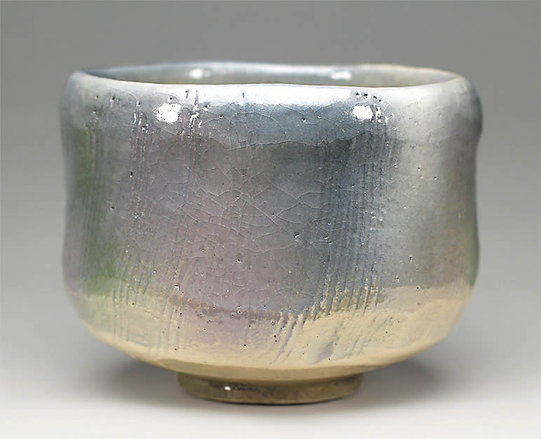 2016年初春作品 「五月雨」茶碗