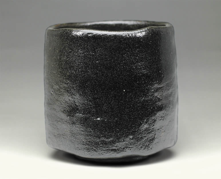 2016年初春作品 左入「ヒヒ」写 黒楽茶碗