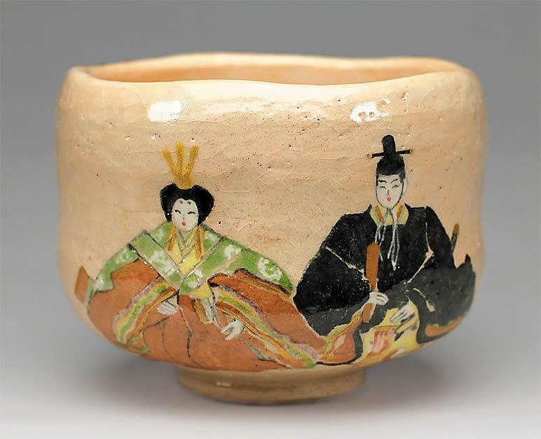 2016年初春作品 「古今雛の絵」茶碗