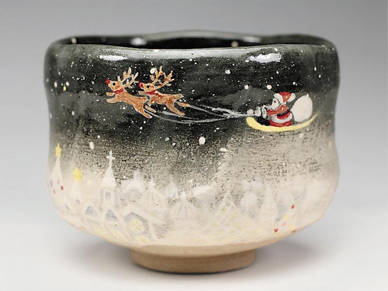 茶碗2019年初春作品 サンタの絵 茶碗, 京都スタイル:797c3ace --- sunward.msk.ru