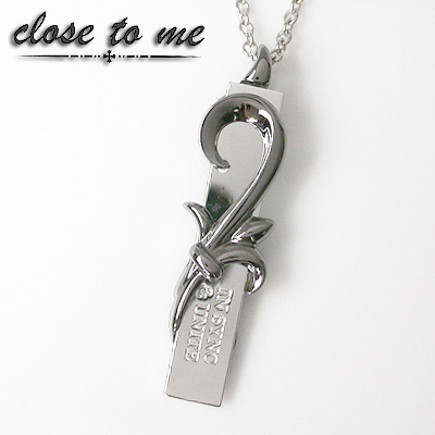 Close to me(ハート 唐草プレート ネックレス) SN13-077(Men's)【送料無料】(e-宝石屋)ジュエリー 通販 ギフト 絆 jbcj