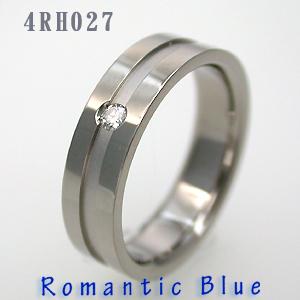 結婚指輪 マリッジリング 18金ホワイトゴールド RomanticBlue (ロマンティックブルー) 4RH027B サファイヤ&ダイヤ入り【送料無料】(e-宝石屋) 刻印無料(文字彫り) 絆 ペア ペアリング刻印無料 【ホワイトデー特集2020】